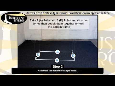 2014 Lighthouse Hydro Grow Tent - 4' x 2' x 4' Assembly Instructions
