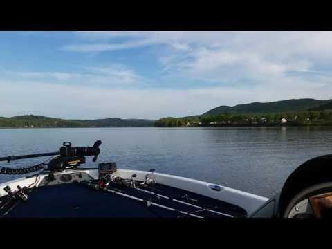 Bass boat on mascoma lake enfield nh