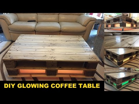 DIY pallet coffee table GLOWING !