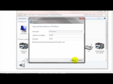 Direct IP printing setup