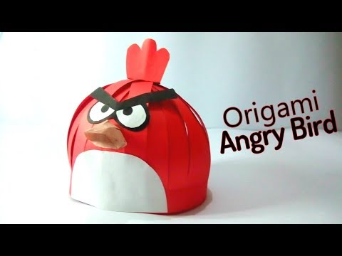 Paper Crafts Ideas: Origami Angry Bird, How to Make a Paper Angry Bird, Angry Birds Crafts