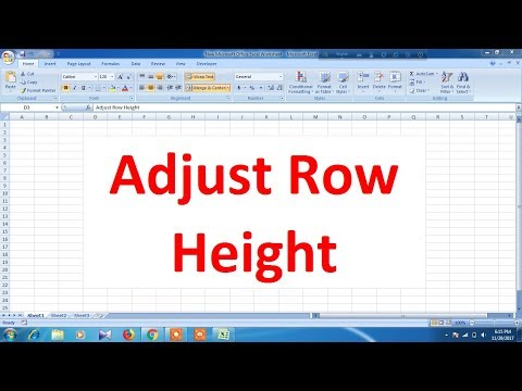 How to adjust row height in Excel