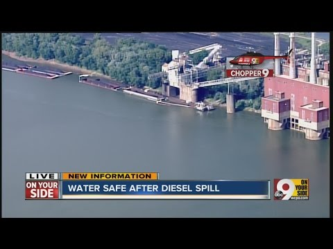 Diesel spill because of human error