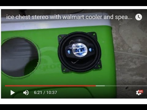 ice chest stereo with walmart cooler and speakers cheap
