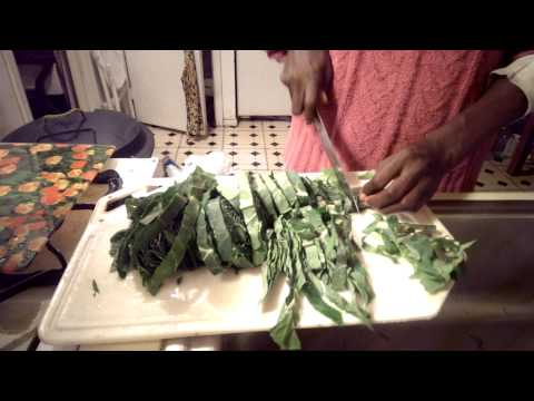 10-minute collard greens cooked in pressure cooker