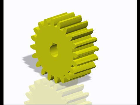 Making Involute Spur Gear in creo. No equation, direct making part. Easy