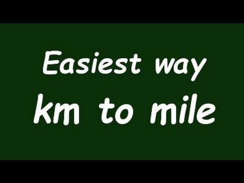 ✅ Convert Kilometer to Mile (Km to mile) - Example and Formula