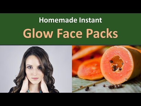 Homemade Instant Glow Face Packs.|Papaya Face Pack For Immediate Glow.