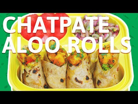 Chatpata Aloo Roll Recipe - Easy To Make Stuffed Potato Wrap - Healthy Veggie Wrap For Kids
