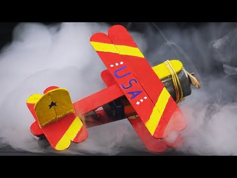 How to Make Working Airplane Model from Popsicle Sticks