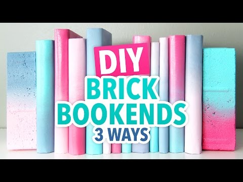 3 DIY Brick Bookends - HGTV Handmade