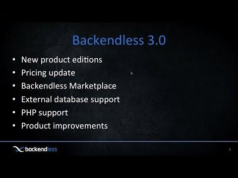 Backendless 3.0 Webinar