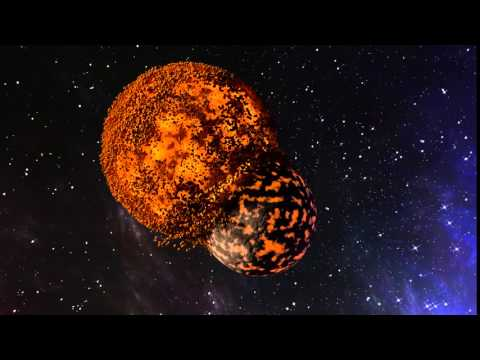 Planets colliding. (second Blender animation)