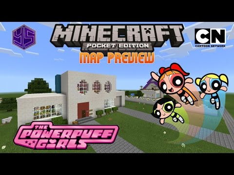 Minecraft PE Map: The Powerpuff Girls' House