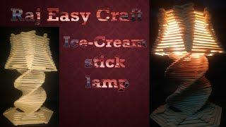 how to make ice cream stick lamp/raj easy craft