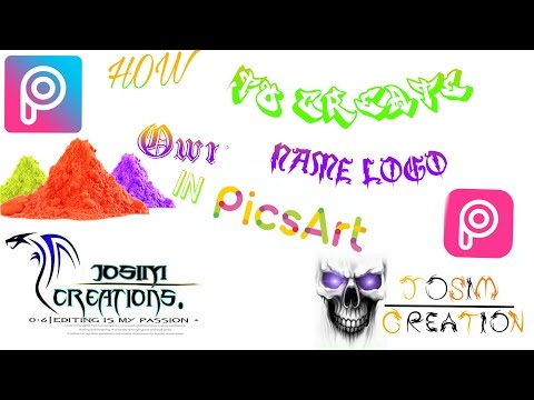 How to Make Your own Name creation PicsArt hd logo in picsart | Picsart editing tutorial