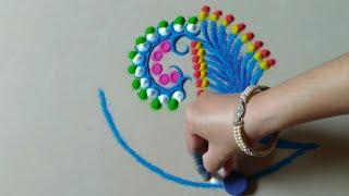 Innovative and creative rangoli design by Jyoti Raut rangoli