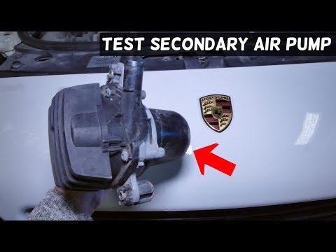 HOW TO TEST SECONDARY AIR PUMP ON PORSCHE