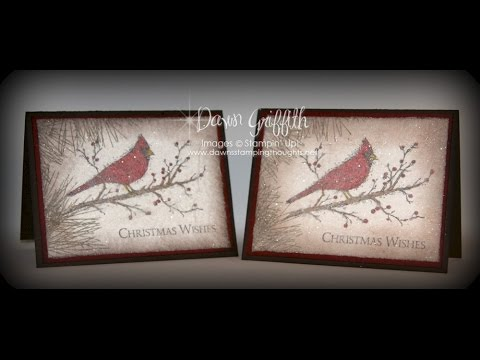Dryer Sheet Sparkly Christmas card with Dawn