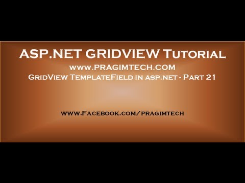 GridView TemplateField in asp.net - Part 21