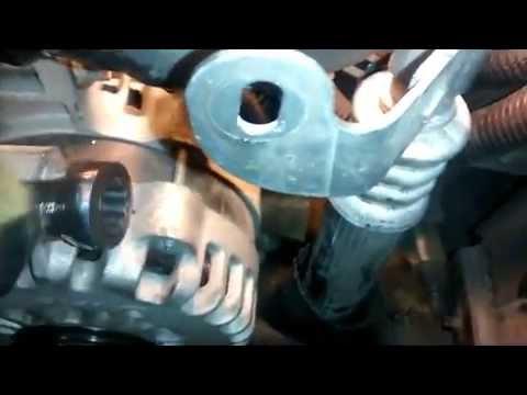 How to Remove  Alternator and Thermostat on a 2004 GMC Envoy