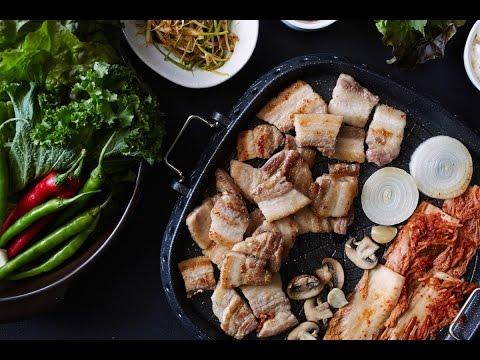 Samgeopsal Gui, Grilled Pork Belly with Ssam - Crazy Korean Cooking EXPRESS
