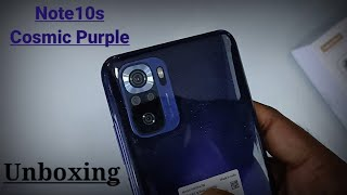 Redmi Note 10S Cosmic Purple Colour Unboxing   Redmi Note 10s Unboxing Special Edition
