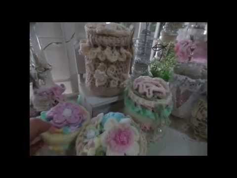 Crochet Shabby Chic &Vintage Jar/Box cover