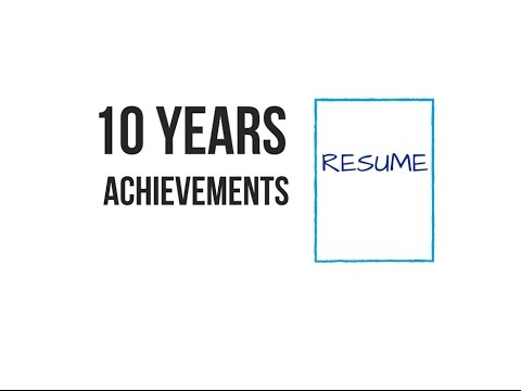 Highlight the Last 10 Years on Your Resume