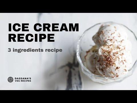 vanilla ice cream recipe  - eggless, no cook, no ice cream maker, 3 ingredient vanilla ice cream