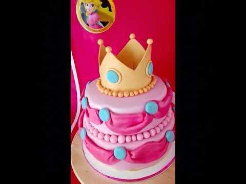 Super Princess Peach Cake 👑💗👑💗 Anitfela's Cake_Design