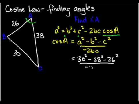 Trig Cosine Law angles