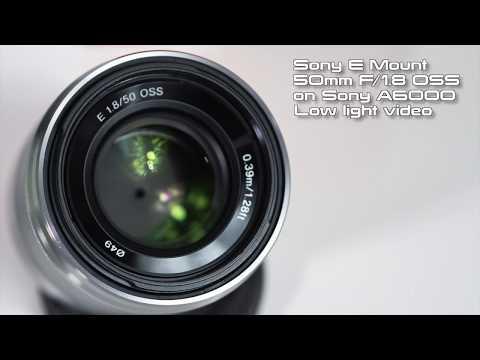 Sony E Mount 50mm F1.8 SEL50F18 Low Light Video Test on A6000