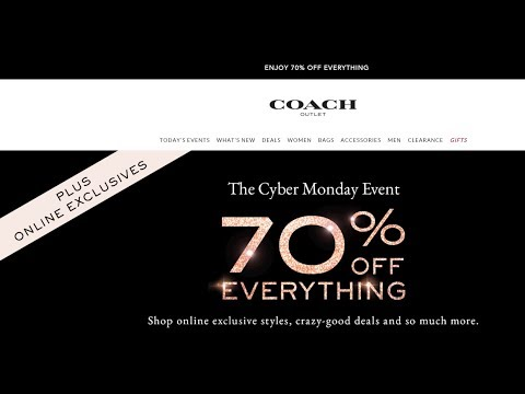 Coach Outlet Cyber Monday Event 70% Off!