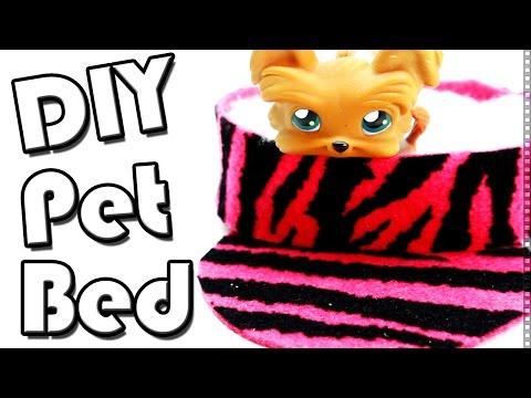 How to make DIY Pet Bed l Miniature Crafts l LPS