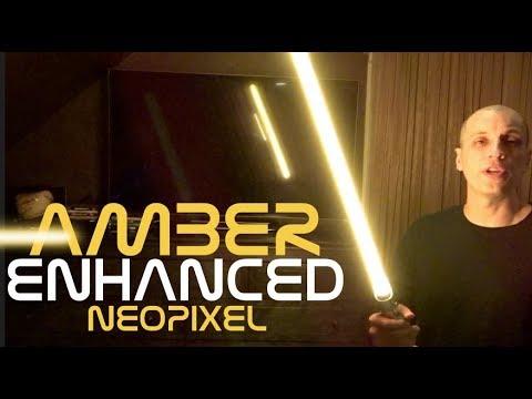 Amber Enhanced Plecter Pixel Neopixel Blade for Lightsabers