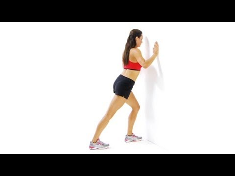 Lower leg exercises - the Calf muscle stretching