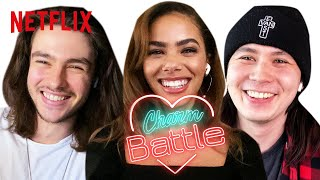 Ginny & Georgia Cast Try Pick Up Line on Each Other | Charm Battle | Netflix