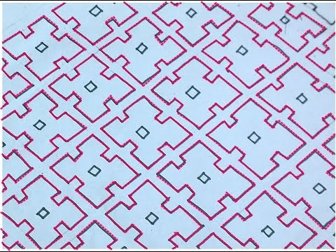 Sashiko Embroidery // Quilt Design Tutorial-19- For Very Beginners