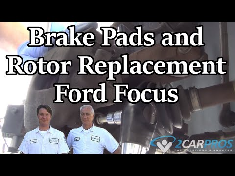 HOW TO REPLACE Brake Pads and Rotors!! Ford Focus 1999-2007