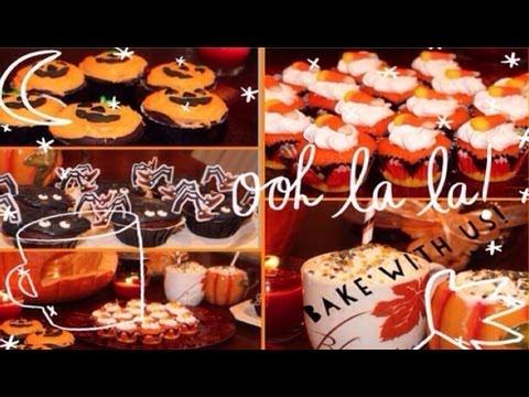 Bake with the Twins: Halloween Cupcakes, treats +pumpkin spice milkshake!