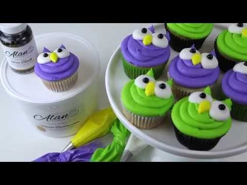 Adorable Buttercream Owl Cupcakes