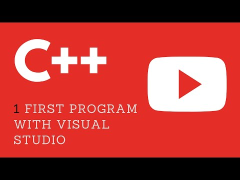 1. First C++ Program using VIsual Studio 2015