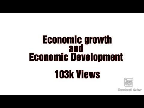 Economic growth and economic development in Urdu/Hindi