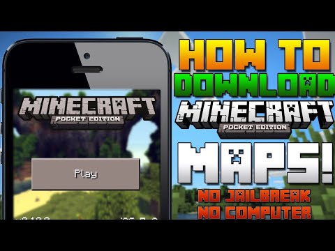 How to get maps for Minecraft PE v1.1.4 on iOS (NO JAILBREAK NO COMPUTER) iPhone/iPad/iPod