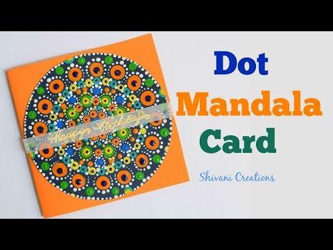 Dot Mandala Birthday Card/ Dot Mandala for beginners