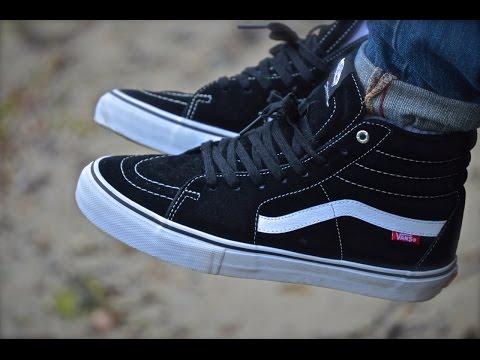 Vans Sk8-Hi lite Review + On Feet - Leather Canvas Vans 7703cf842da2
