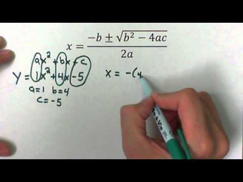Use the Quadratic Formula to solve a Quadratic Equation