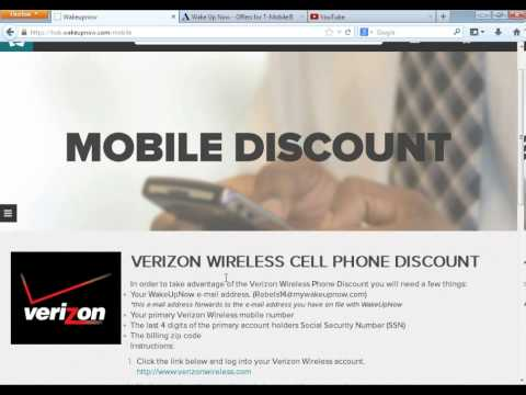 Wake Up Now : How To Get AT&T T-Mobile And Verizon Discount