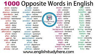 opposite words a to z Videos - 9tube tv